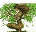 Древо жизни Раскраска картина по номерам на холсте PK59058