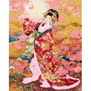 Танец гейши Раскраска картина по номерам на холсте PK59082