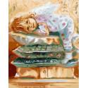 Мой милый ангел Раскраска картина по номерам на холсте PK59008