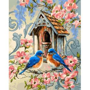 Птички синички Раскраска картина по номерам на холсте GX21728