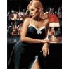 Девушка у стойки бара Раскраска картина по номерам на холсте МСА474