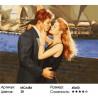 Сложность и количество цветов Поцелуй влюбленных Раскраска картина по номерам на холсте МСА486