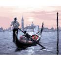 Романтика Венеции Раскраска картина по номерам на холсте МСА286
