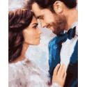 Нежные чувства влюбленных Раскраска картина по номерам на холсте МСА424