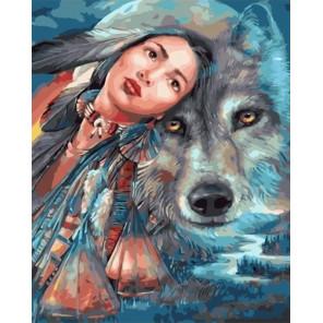 Сложность и количество цветов Дух волка Раскраска картина по номерам на холсте МСА654