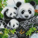 Милые панды Алмазная вышивка мозаика на подрамнике UС178