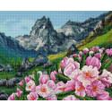 Горные цветы Алмазная вышивка мозаика на подрамнике VА110