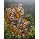 Тигрица с тигренком Алмазная вышивка мозаика на подрамнике VА133