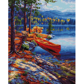 Лодка у берега Алмазная вышивка мозаика на подрамнике GF2487