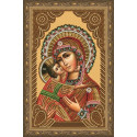 Владимирская икона Божией Матери Алмазная вышивка мозаика на подрамнике CDX043