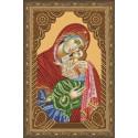 Икона Девы Марии с младенцем Алмазная вышивка мозаика на подрамнике CDX044