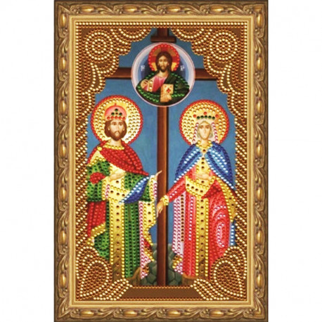 Святые Елена и Константин Алмазная вышивка мозаика на подрамнике CDX056