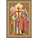 Икона святых Константина и Елены Алмазная вышивка мозаика на подрамнике CDX057