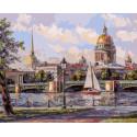 Адмиралтейская набережная Раскраска картина по номерам на холсте 264-AB