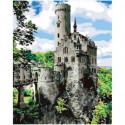 Замок Лихтенштейн 100х125 Раскраска картина по номерам на холсте