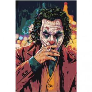 Джокер с сигаретой Раскраска картина по номерам на холсте
