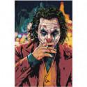 Джокер с сигаретой 100х150 Раскраска картина по номерам на холсте