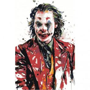 Джокер портрет 80х120 Раскраска картина по номерам на холсте