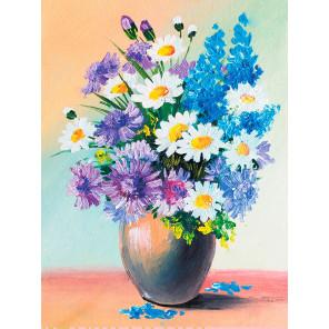 Полевой букет цветов Алмазная мозаика на подрамнике LE116