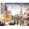 Парижским вечером Алмазная мозаика на подрамнике LG142