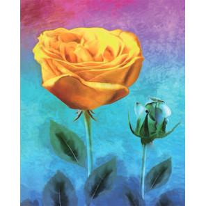 Желтая роза Алмазная мозаика на подрамнике LG227