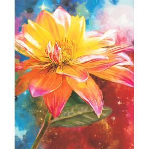 Фото холста Оранжевая лилия Алмазная мозаика на подрамнике LG228