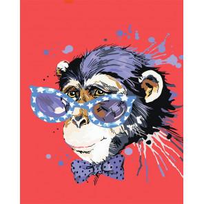 Стильная обезьянка Алмазная мозаика на подрамнике LG188