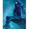 Задумчивый космонавт Алмазная мозаика на подрамнике LG240