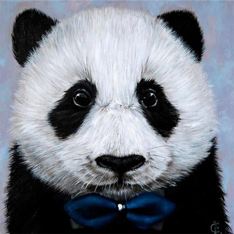 Панда с бабочкой Алмазная вышивка мозаика Гранни AG2441