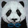 Макет Панда с бабочкой Алмазная вышивка мозаика Гранни AG2441