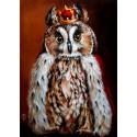 Король филин Алмазная вышивка мозаика Гранни AG2443