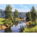Проточная река Раскраска картина по номерам на холсте
