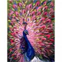 Роскошь оперения павлина Раскраска картина по номерам на холсте