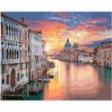 Закат в Венеции Раскраска картина по номерам на холсте