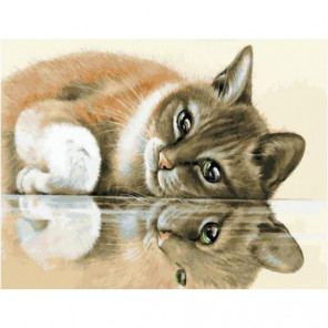 Кошачий отдых Раскраска картина по номерам на холсте