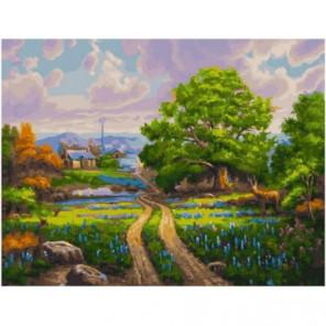 Дорога к дому Раскраска картина по номерам на холсте