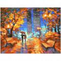 Вечер в городском парке Раскраска картина по номерам на холсте