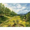 Тихая долина Раскраска картина по номерам на холсте