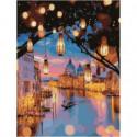 Венецианские фонарики Раскраска картина по номерам на холсте