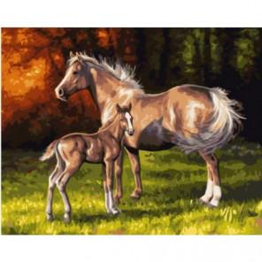 Ветер в гривах лошадей Раскраска картина по номерам на холсте