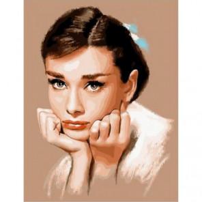 Прекрасная Одри Раскраска картина по номерам на холсте