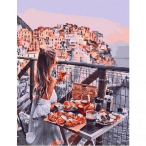 Итальянский вечер Раскраска картина по номерам на холсте
