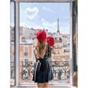Парижанка Раскраска картина по номерам на холсте