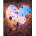 Сердце из камня Раскраска картина по номерам на холсте GX36050