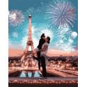 Парочка в Париже Раскраска картина по номерам на холсте GX36067