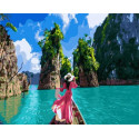 Природа Тайланда Раскраска картина по номерам на холсте GX36108