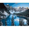 Озеро у подножия гор Раскраска картина по номерам на холсте GX22837