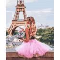 Розовые оттенки Парижа Раскраска картина по номерам на холсте GX29538