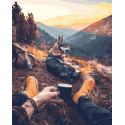 Привал в горах Раскраска картина по номерам на холсте GX29684
