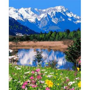 Белые горы Раскраска картина по номерам на холсте GX31301